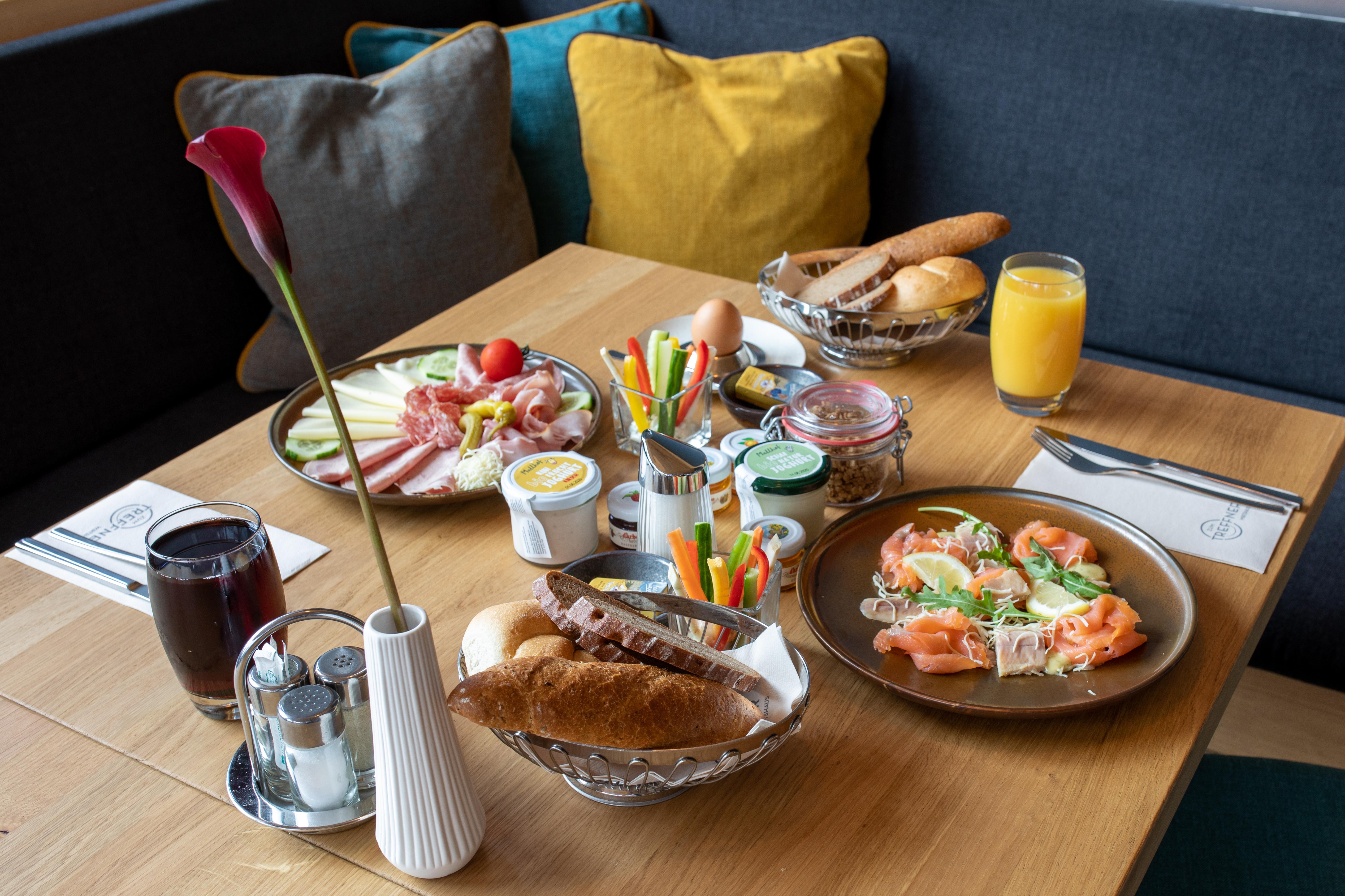Das vielfältige Frühstück bei Villach