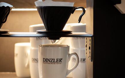 Nahaufnahme der Kaffeemaschine im Gasthaus in Villach Umgebung